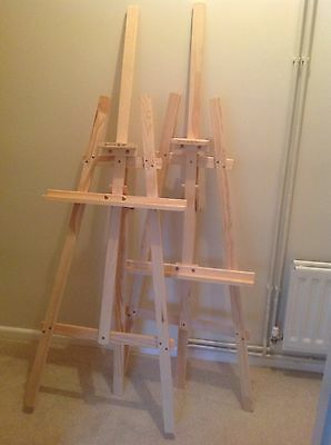 2 X Wooden Easels Wedding Occasion Shabby Chic
