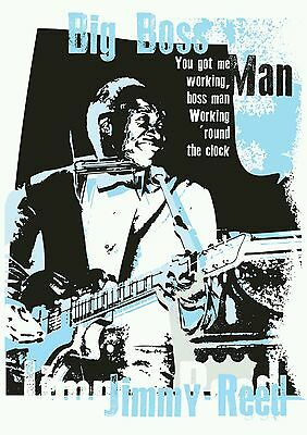 Jimmy Reed specially designed blues poster print