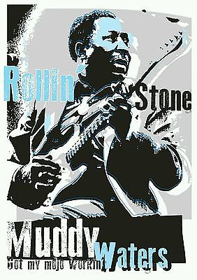 Muddy Waters blues specially designed poster print