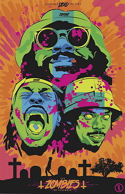 "MX14152 Flatbush Zombies - American Hip Hop Group Music Star 14""x21"" Poster"