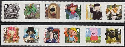 Great Britain 2014 Classic Children's TV Stamp Complete Self Adhesive