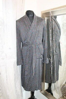 Tootal blue paisley dressing gown smoking jacket - 1950s Ditsy Vintage 42 44 46