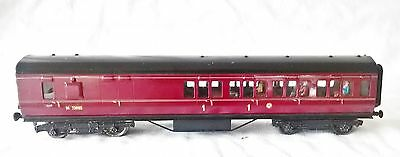 123: Exley  O Gauge  Maroon Post War LMS 1st class Corridor Coach