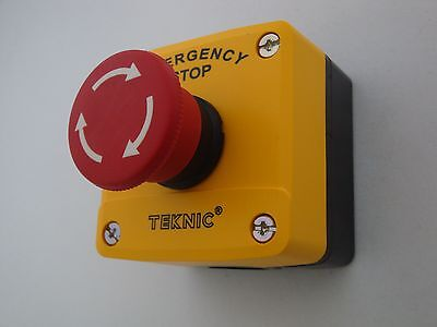 Emergency Stop Push Button Station, Twist to Release