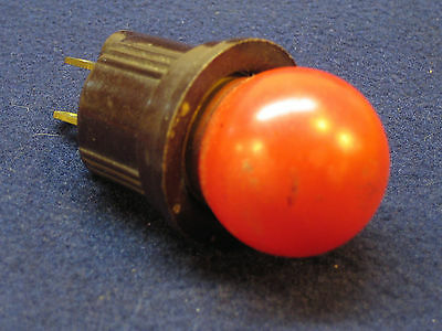 Antique Red Christmas Night Light Bulb Mazda