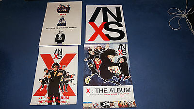INXS - 4 x UK Promo Poster Collection
