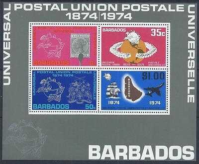 BARBADOS 1974 MS505 Centenary Universal Postal Union Mini Sheet Mint MNH