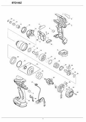 Genuine New Makita Parts(by choosing) for BTD146Z