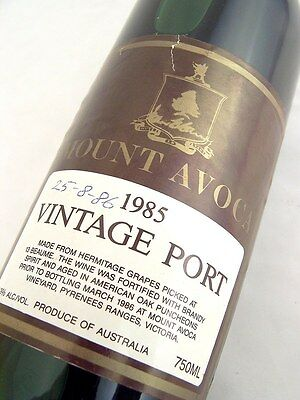 1985 Mount Avoca Vintage Port Isle of Wine