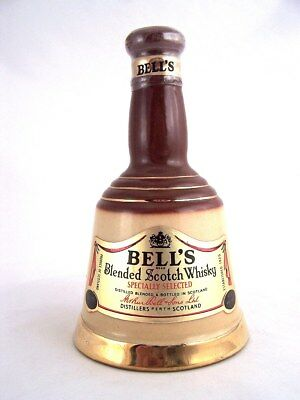 Miniature circa 1988 BELLS SCOTCH WHISKY 200ml Ceramic Bell Isle of Wine
