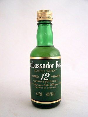Miniature circa 1988 AMBASSADOR ROYAL 12yo Scotch Whisky Isle of Wine