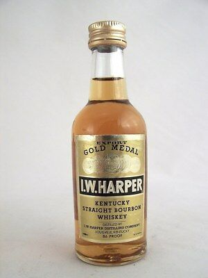 Miniature circa 1995 I.W.HARPER KENTUCKY STRAIGHT BOURBON Isle of Wine