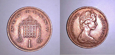 1971 ONE NEW PENNY COIN - UK (GREAT BRITAIN) - Circulated/Ungraded