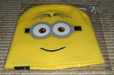 NEW Despicable Me 2 Dave Minion Knit Beanie Hat! Promo! HTF!