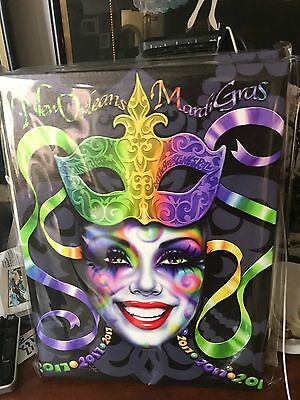 """Signed/numbered canvas 2017 Mardi Gras Poster""""Bon Temps by A. Mistretta"""