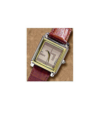 Swiss Army St John Womans Watch Two Tone Bezel Brown Leather Braclet # 96200