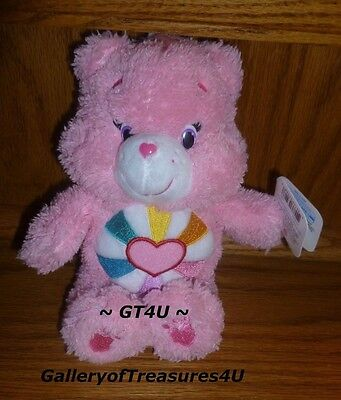 "Care Bears Fluffy Friends Special Edition 8"" Plush HOPEFUL HEART Pink Bear"