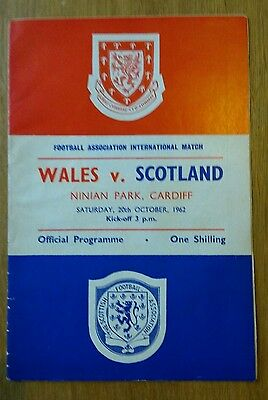 1962 Wales vs Scotland Home International Championship