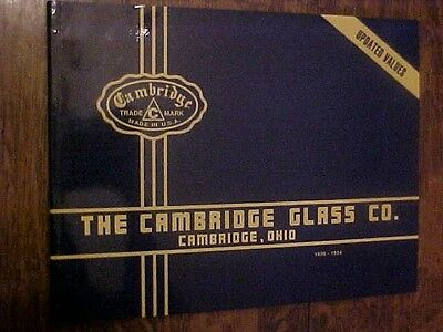 Book CAMBRIDGE GLASS CO, REPRINTS of 1930-34 CATALOGS w/ Values as of 1991