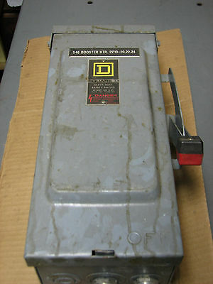 Square D Disconnect Hu361Rb 30 Amp 600V 3 Phase Non-Fusible 30A 3Ph