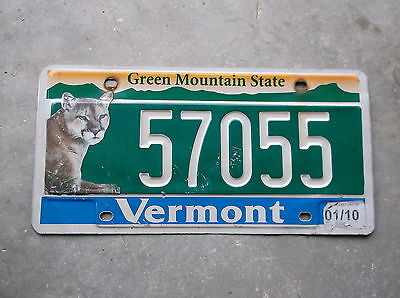 Vermont 2010 Panther License Plate  #  57055