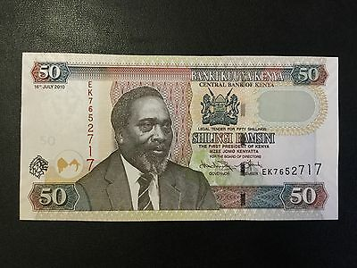 2010 Kenya Paper Money - 50 Shillings Banknote !