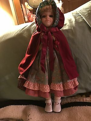 """Collectible porcelain Doll """"Little red riding hood"""""""