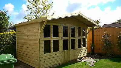 14x10 19mm Heavy Duty Tanalised/Pressure Treated Summerhouse Shed