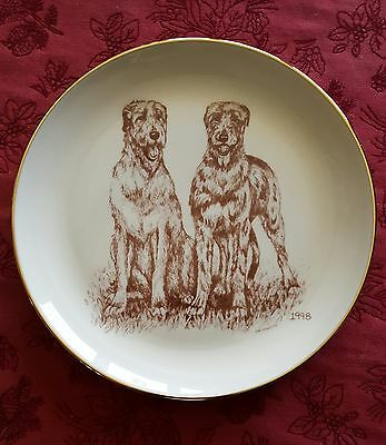 Laurelwood 1998 Irish Wolfhound Collector Plate
