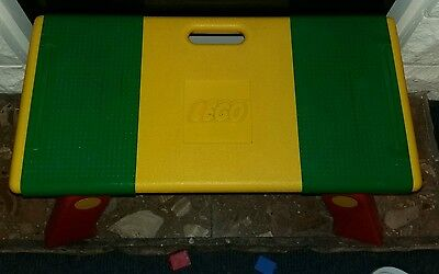 Lego Folding Play Tray Table Lap Desk Storage 1798/6787 Yellow Green Red