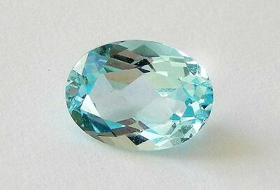 Blue Zircon Natural Stone / 7x5x3.2 mm /Oval faceted /   TW 1.30 cts.