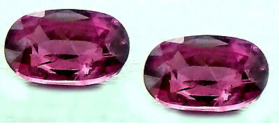 Rubies 3x5 MM Oval Faceted Natural Mined Unheated  TW .50-.81 cts. ONE PAIR