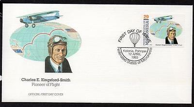Micronesia 1993 Pioneers of Flight FDC Charles E. Kingsford-Smith