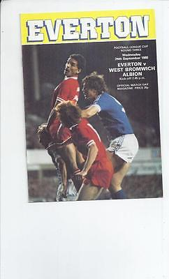 Everton v West Bromwich Albion League Cup Football Programme 198/81