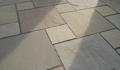 Raj Blend - Project /Patio Pack- '25/35mm thick' 15m2 - Indian Sandstone Paving