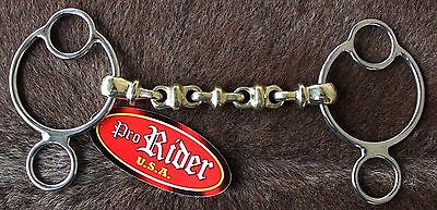 """Horse SS 3 Ring Continental Dutch Gag Waterford Bit with 5"""" Copper 35380B"""