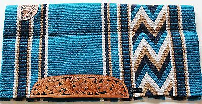 34x36 Horse Wool Western Show Trail SADDLE BLANKET Rodeo Pad Rug 36303C