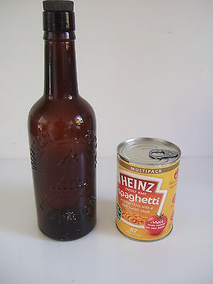 Collectable Brown Bottle Advertising Whitbread Of London With Stopper