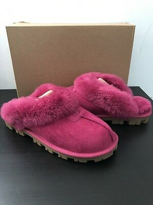 Ugg  Suede Coquette 5125 Women Slippers Lhts{Pink} Size 7 New