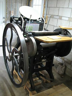 Chandler and Price C&P 10X15 old style letterpress printing press