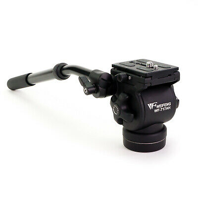 Weifeng WF-717AH Flat Base Fluid Video Head with Pan Tilt for Slider Tripod DSLR