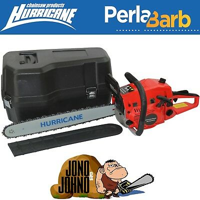 "62cc Perla Barb V2 Chainsaw with easy start 20"" bar and chain with Carry Case"