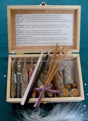 Witches Herb Box - Wicca Starter Kit - Witch Spells Incense - gift occult pagan