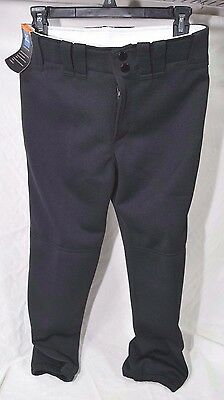 Mizuno Womens Belted Pant Black, Adult Elastic Bottom SIZE Small