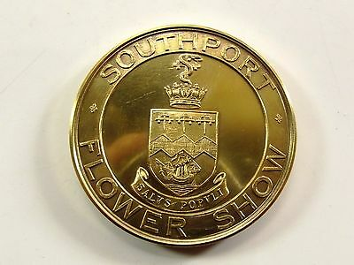 Antique Solid Silver Medal For Southport Flower Show 1930  Ref 800/3