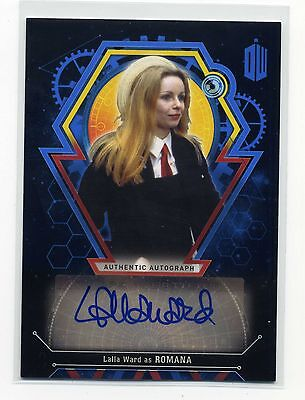 Topps Dr Doctor Who Extraterrestrial #d/25 Lalla Ward Autograph as Romana