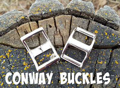 "Nickel Plated Conway Buckle Horse Hardware Tack 1/2"" 5/8"" 3/4"" 1"""