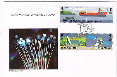 Isle Of Man Cover 1988 Non Addressed Very Nice Optical Glass Fibres