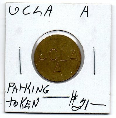 *U.C.L.A. Parking Token A  Los Angeles, California