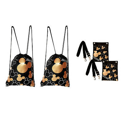 Disney Mickey Mouse Drawstring & Cross Body Shoulder Bags 4 Pack